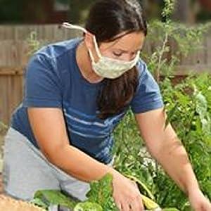 Breathe Healthy Honeycomb Black Mask - gardening