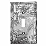 Wendell August Pine Single Switch Plate Cover, Aluminum