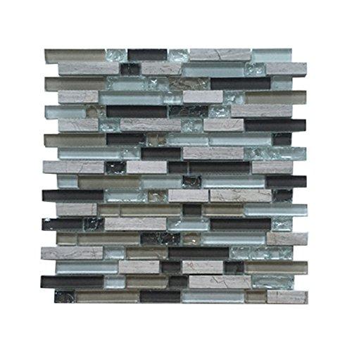 Affordable Home Innovations Glass & Stone Mosaic Tiles Hazel Bark 1 -