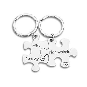 Amazon.com: Regalos para novia, novio, novio, llavero ...
