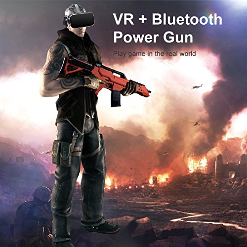 VR Bluetooth Game Gun for HTC VIVE,Game Pad Shooting Controller TPS FPS with Motor Vibration for 4 to 6 Inch Smartphone iPhone Samsung Tablet iPad Wireless Android,BENEVE(Orange) by BENEVE (Image #5)