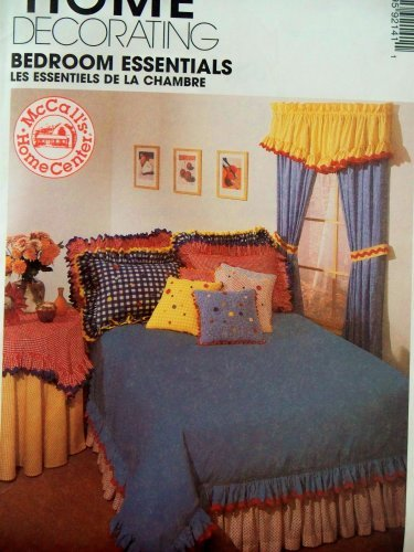 McCall's Home Decor Sewing Pattern 9214. Included Are: Instructionsd & Patterns for Drapes, Tabletoppers, Tablecloth; Ruffled Valance, Scarf Valance, Duvet Cover, Dust Cover, Dust Ruffle; Shams, Pillows, & Neckroll