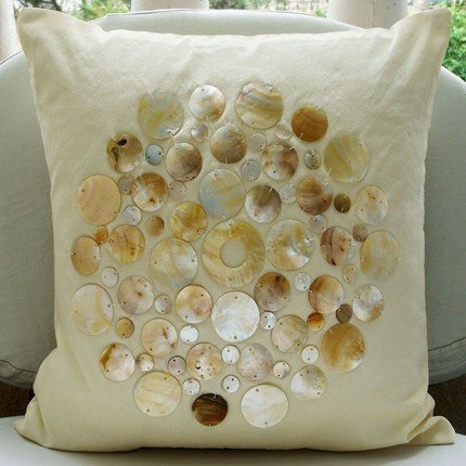 Luxury Gold Throw Pillow Covers, Mother Of Pearls Pillows Co