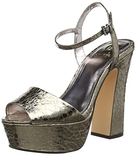 Pewter Grau Sandalias Look Sandal La pewter 1444 Strada Gris Cracked cracked Mujer Leather RnwqnF5xz