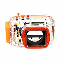 EACHSHOT 40M 130ft Waterproof Underwater Housing Case Bag for Nikon J1 10mm Lens Camera