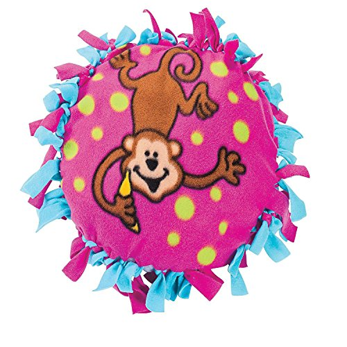 Bargain World Fleece Monkey Tied Pillow Craft Kit (With Sticky Notes) ()