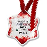 Christmas Ornament Made in America with Parts from Mexican, red - Neonblond