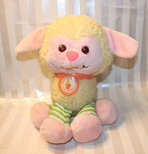 Vintage 1984 Kenner Strawberry Shortcake MELONIE BELLE Pet LAMB Plush w/ Collar Peach Blush ()
