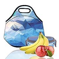 Bolsa de almuerzo, OFEILY Cajas de almuerzo Bolsas de almuerzo con material de neopreno fino Bolsa de almuerzo de picnic impermeable Bolsa de mamá (Diamante azul)
