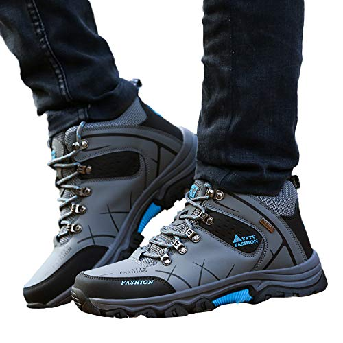 AgrinTol Casual Men's Outdoor Flat Off-Road Sport Hiking Shoe Keep Warm Non-Slip Sneaker -
