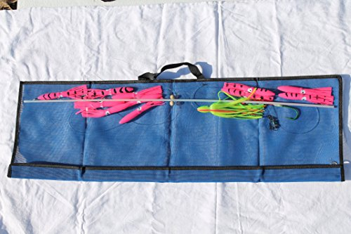 Ancient Mariner Tackle 36-Inch Flexible Spreader Bar w/PINK Squids, Hook Lure, and Storage Bag