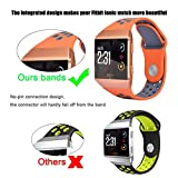for Fitbit Ionic Bands - VIGOSS Soft Silicone Band Breathable Replacement Strap Fitness Wristband for Fitbit Ionic Smartwatch Sports GPS Nike+