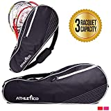 Athletico 3 Racquet Tennis Bag | Padded to Protect Rackets & Lightweight |