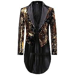 Men's 2 Color Reversible Sequin Tailcoat