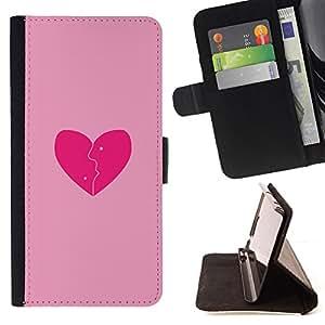 - Love Pink - - Monedero PU titular de la tarjeta de cr????dito de cuero cubierta de la caja de la bolsa FOR Samsung Galaxy A3 RetroCandy