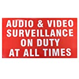 """10.5"""" x 5.75"""" Warning Security Sticker / Decal / Sign for Security Camera Surveillance Video CCTV System"""
