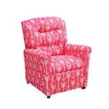 Brazil Furniture 400 Children's Button Back Recliner, Arrow Pink