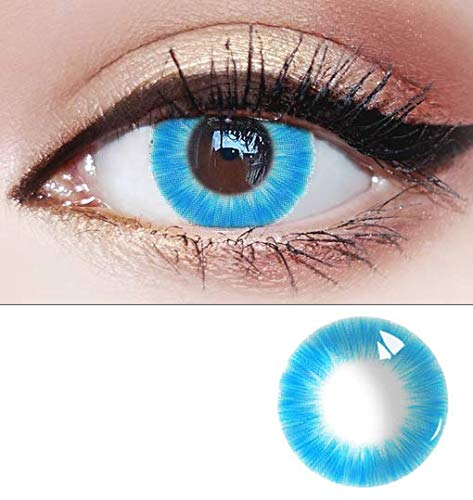 1pair Women Fashion Cute Colored Contact Lenses Eyes