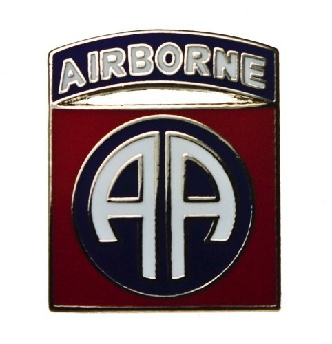 82nd Airborne Rhodium United States Army hat or lapel pin HON14674