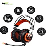Sades 7.1 Surround sound Stereo Gaming USB with Noise Isolation Microphone and Vibration effect for PC Games Headset