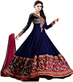 Best Offer Sale on Today in Anarkali with Amazon Prime Day by RTHub Salwar Suits for Women Lattest Design in Blue with Designer Georgette Embroidered Work Salwar Suit for Party Wear & Navrati Season(Blue_Free Size_Semi-Stitched Suit_Sinux Blue)