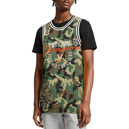 (ilzeu Mens Camouflage Print Tank Tops Breathable Basketball Uniforms Sports Jersey)