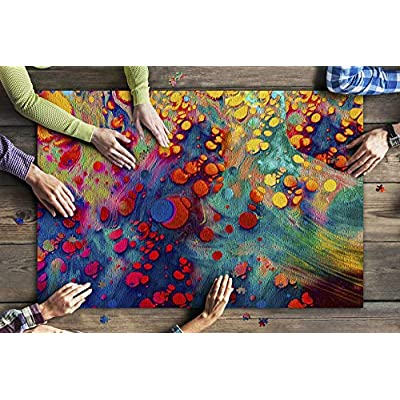 Abstract Grunge Art Background Texture with Colorful Paint Splashes 9018943 (Premium 1000 Piece Jigsaw Puzzle for Adults, 20x30, Made in USA!): Toys & Games
