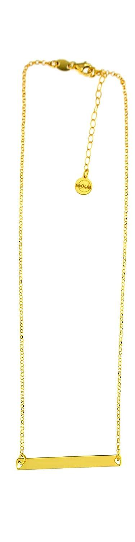 Collana con targhetta personalizzabile con incisione