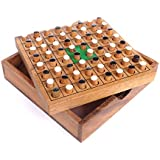 Logica Puzzles art. OTHELLO - Wooden Board Game - Teak Wood box - Travel version