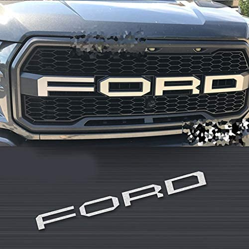 kmmotto Decorative F150 Decal Overlays Emblem Badge fit for Raptor F-150 F-250 2015-2020 White