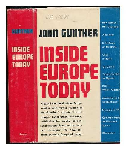 Inside Europe Today by John Gunther