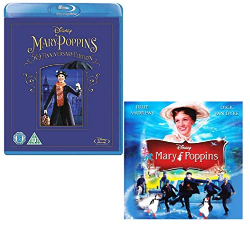 Mary Poppins - Movie and Soundtrack Bundling - Blu-ray and CD (Mary Poppins 50th Anniversary Edition Blu Ray)