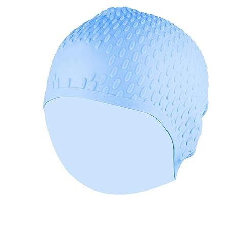 Nimoa Gorro de natación Unisex Impermeable Cubierta de Silicona ...