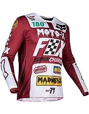 BFXJW Men's Motocross Jersey MTB Mountain Bike Breathable Shirt 100% Polyester T-Shirt