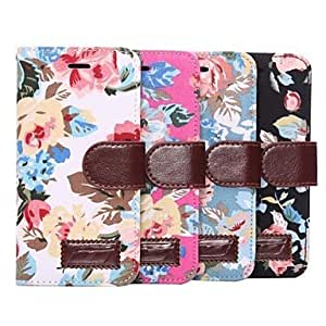 JAJAY Flower Pattern PU Leather Cvoer for iPhone 6 (Assorted Colors) , Rose