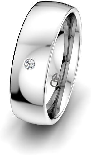 Moncoeur Alliance Classique Love + Anneau Mariage en Argent 925 + Alliances  Pour Femmes Avec Swarovski + Alliance Femme en Argent 925 Avec Swarovski +  ...