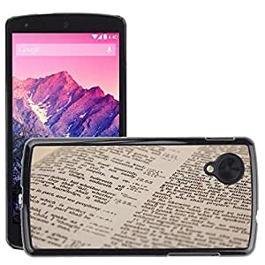 Hot Style Cell Phone PC Hard Case Cover // M00152230 Bible Book Christian Christianity // LG Nexus 5