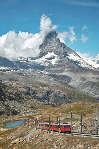Notebear: Landscape Of Matterhorn Mountain With Railway, Swiss -