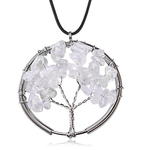 Diy Tin Man Baby Costume (Natural Crystal Tree Of Life Pendant Necklace Handmade Necklace)