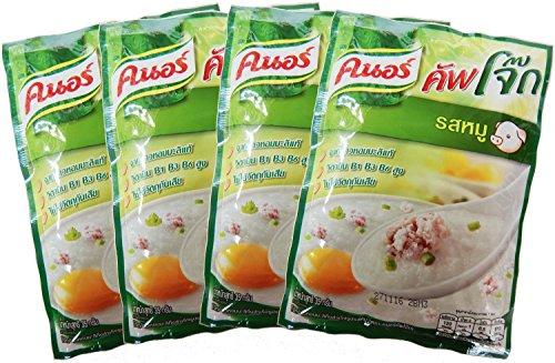 (Knorr Cooked Organic Thai Jasmine Rice Porridge, Pork, 35 Gram (Pack of 4))