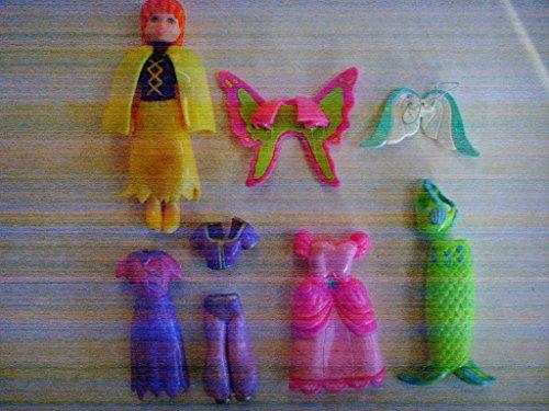 Polly Pocket Doll Redhead with Disney Princess Dresses Collectible (Redhead Disney Princess)