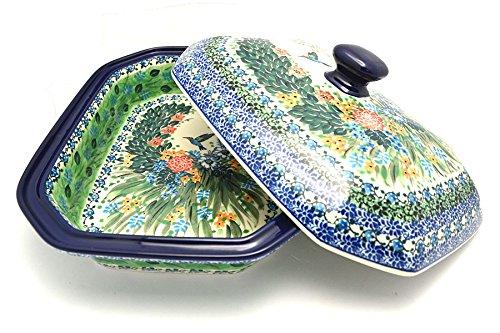 Polish Pottery Baker - Rectangular Covered - Large - Unikat Signature - U3271 (Pottery Casserole)