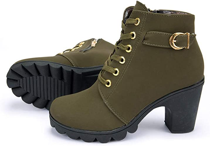 NEW Rock Shoes Womens Ankle Boot Boots Heel Boots Patent Gothic   eBay