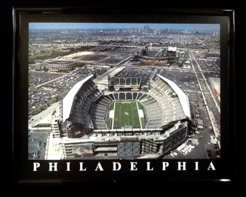 Framed Philadelphia Eagles, Lincoln Field Aerial Photograph Print