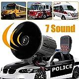 Daphot-Store - Motorcycle Car Alarm 12V 100W 7-Tone Alarm Loud Siren Horn Car Motorcycle Van Truck Home Multi-tone & Claxon Horns