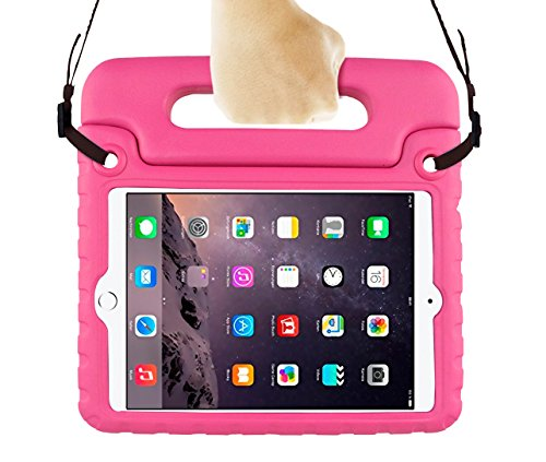 Bolete iPad Mini 3 2 1 Case for Kids Tablet Protective Case with Shoulder Strap Children Shockproof Drop (Ipad Mini 2 Nerf Case)