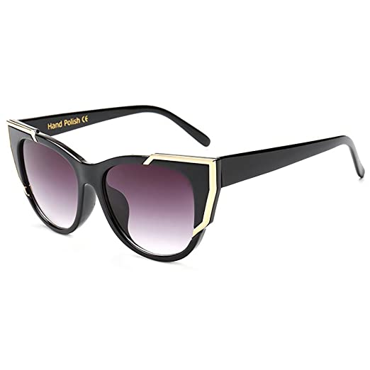 2290cf32c6 Image Unavailable. Image not available for. Color  Retro Super Cateyes  Vintage Inspired Fashion Mod Chic High Pointed Black Cat-Eye Sunglasses