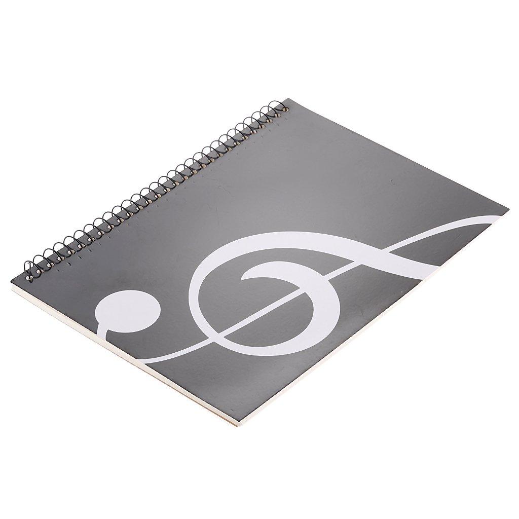 # 2 Gazechimp Cahier de Musique Partition Bloc-note Papier /à Musique 10 Port/ées 50 Pages