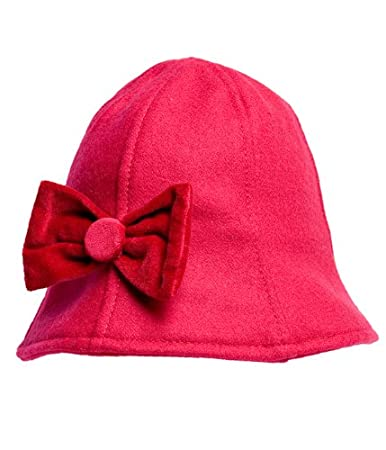 53d5ff62a51 Amazon.com  Please Mum Wool Blend Cloche Hat With Bow - Persian - 3 ...