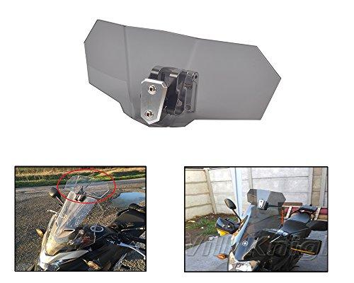 (Tencasi Motorcycle Windscreen Smoke Windshield Spoiler Deflector Adjustable Lockable for Honda KTM Aprilia Ducati Triumph Harley)